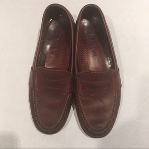 MENS COLE HAAN LEATHER BROWN LOAFERS